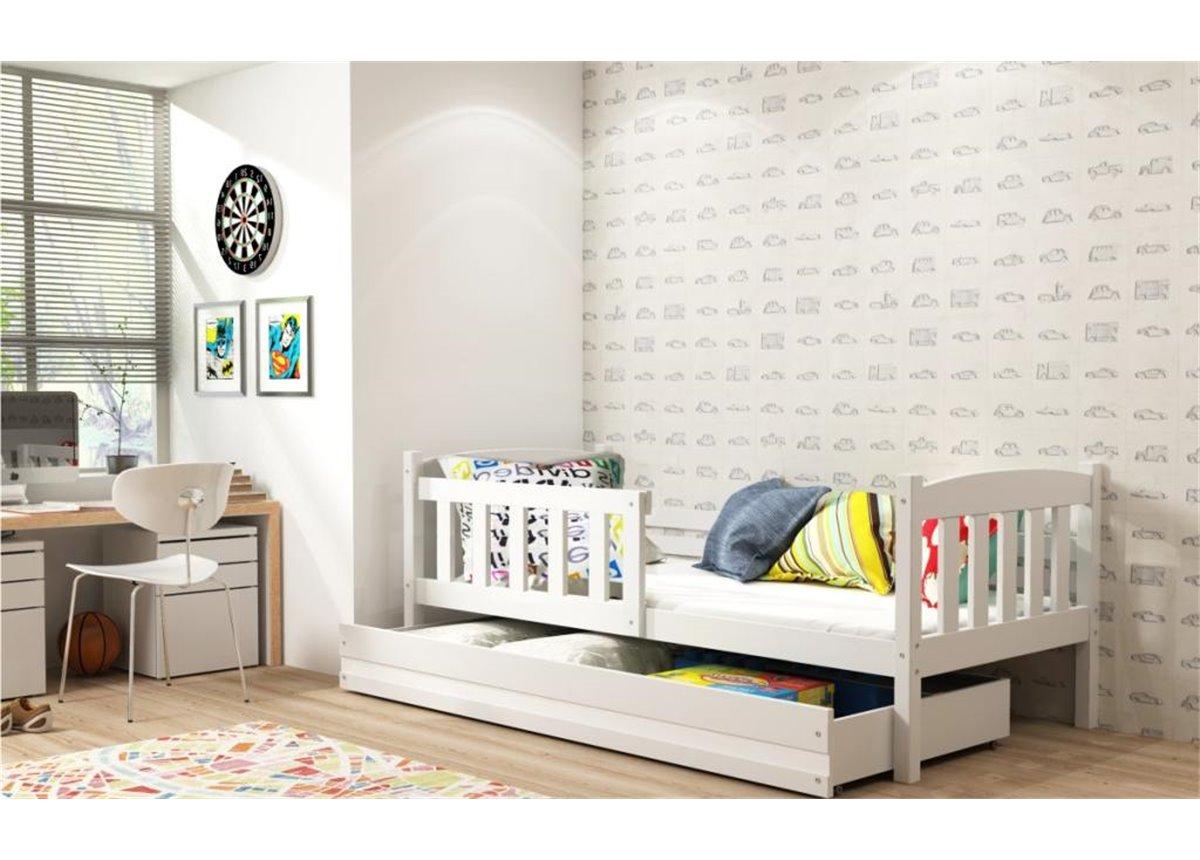 Кровать + 1 матрас + 1 ящик + бортик KUBUS Single BMS Group 80x160
