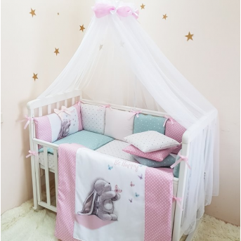 Балдахин Akvarel белый с розовым шарфиком Маленькая Соня
