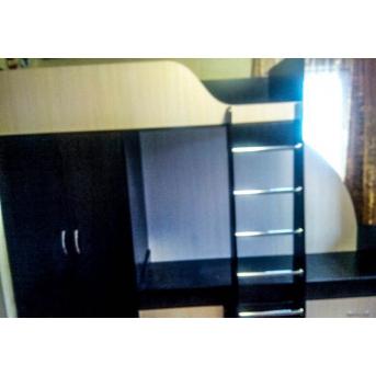 Кровать детская двухъярусная со шкафом (а14) Fimebel 80x190