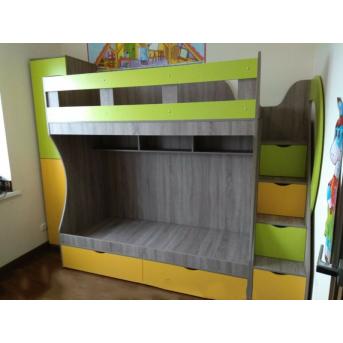 Детская двухъярусная кровать с лестницей-комодом (ал5-2) Fimebel 80x190