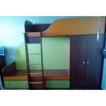 Детская двухъярусная кровать со шкафом (а5) Fimebel 80x190