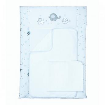 Пеленальный матрас Elephant Голубой 50x70 Veres