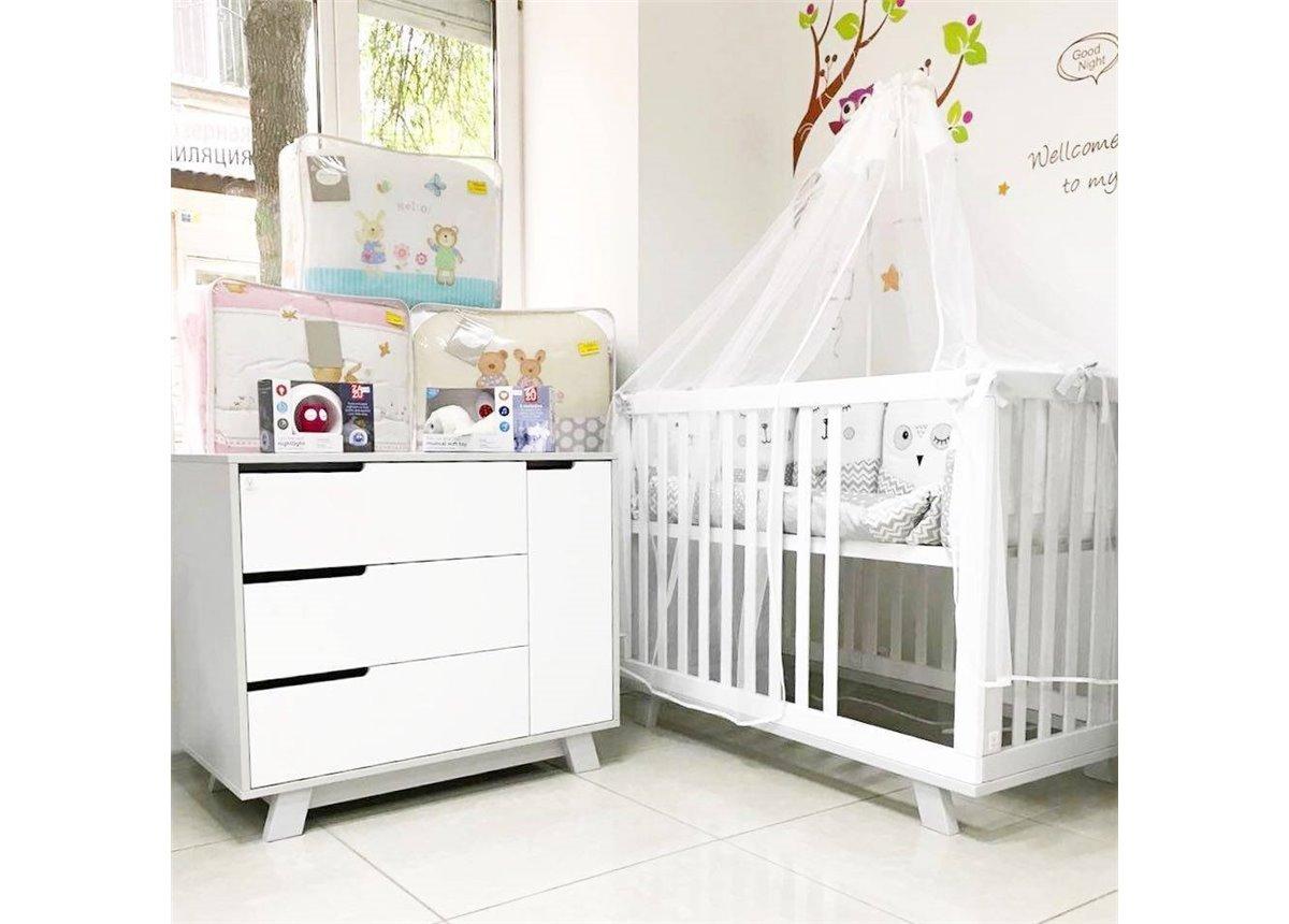 Комната Верес коллекция Манхэттен для новорожденных бело-серый