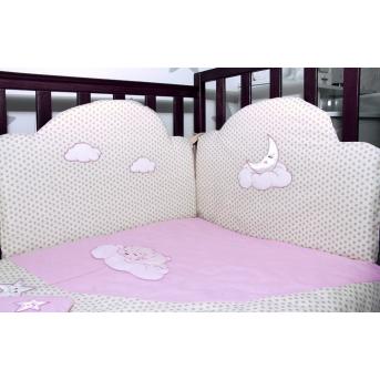 Постельный комплект Veres Sleepyhead Розовый (6 предметов)