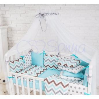 Балдахин Baby Design белый с серым Маленькая Соня