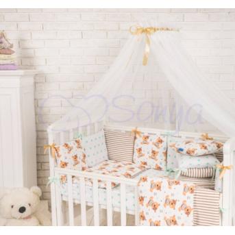 Балдахин Baby Design белый с шоколадным Маленькая Соня