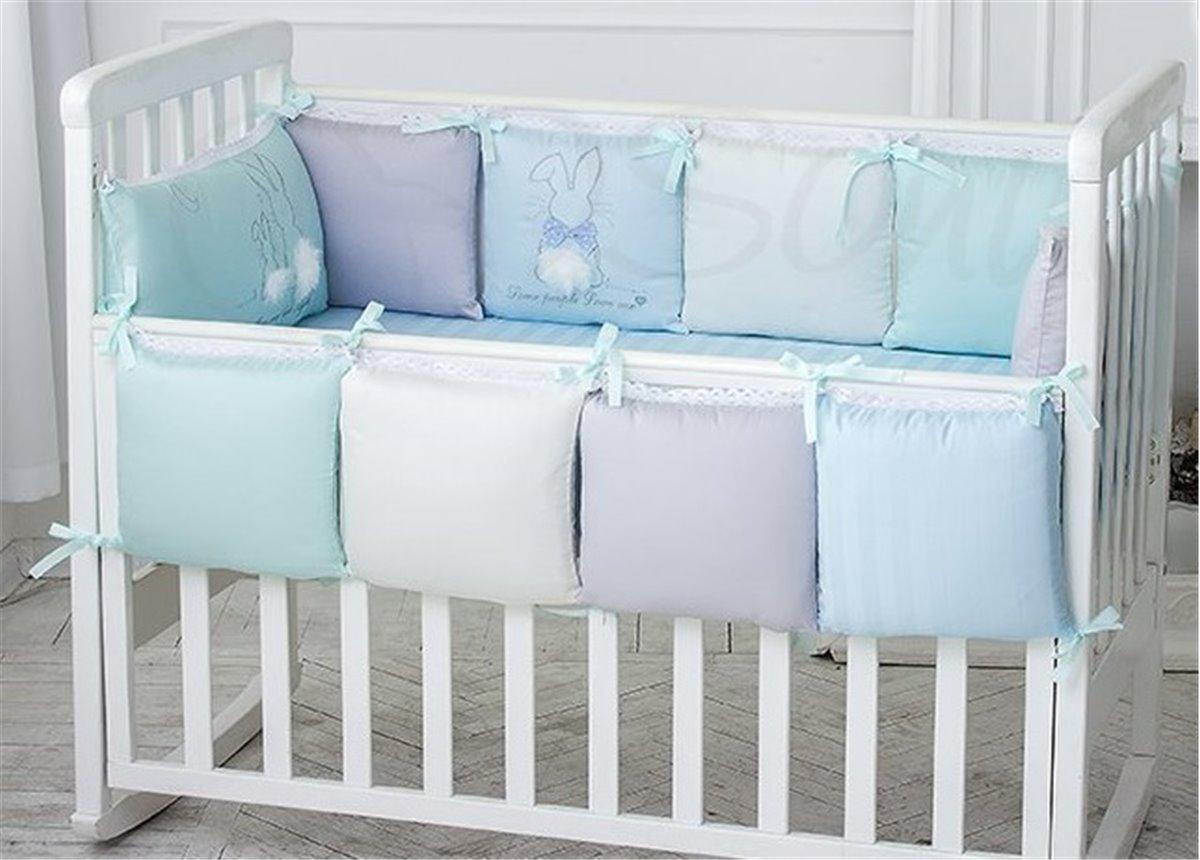 Сменный комплект постельного белья Зайчики голубой Маленькая Соня