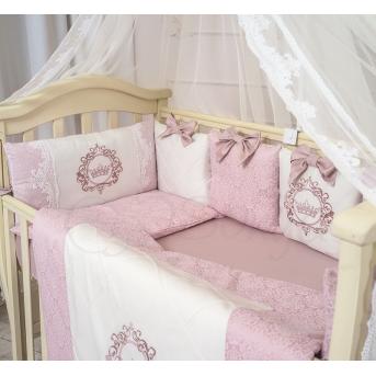 Комплект Elegance розовый (7 предметов) Маленькая Соня