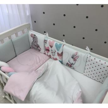 Комплект Art Design Зайчики розовый (6 предметов) Маленькая Соня
