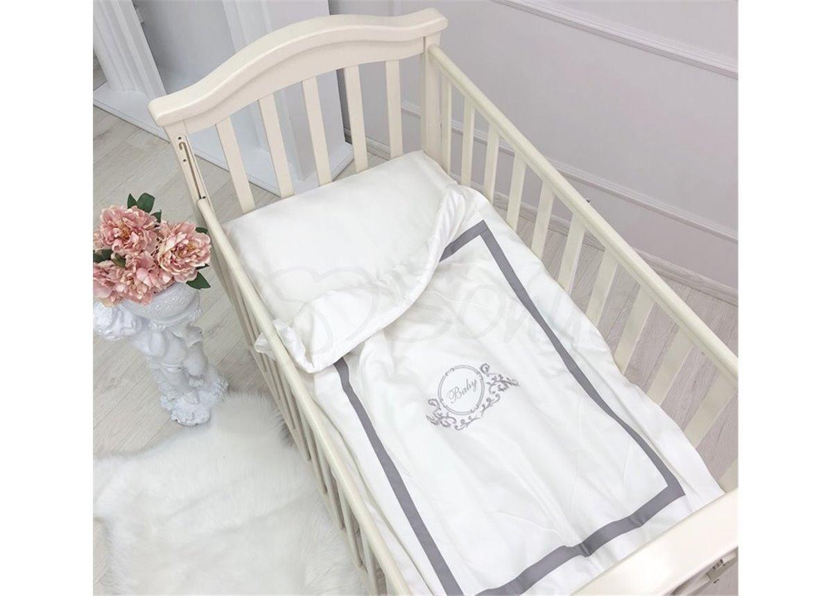 Сменный комплект постельного белья Belissimo серый Маленькая Соня