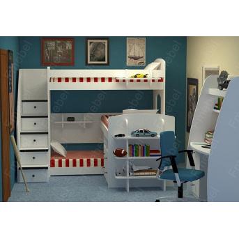 Двухъярусная кровать с дополнительным спальным местом Дели Fmebel