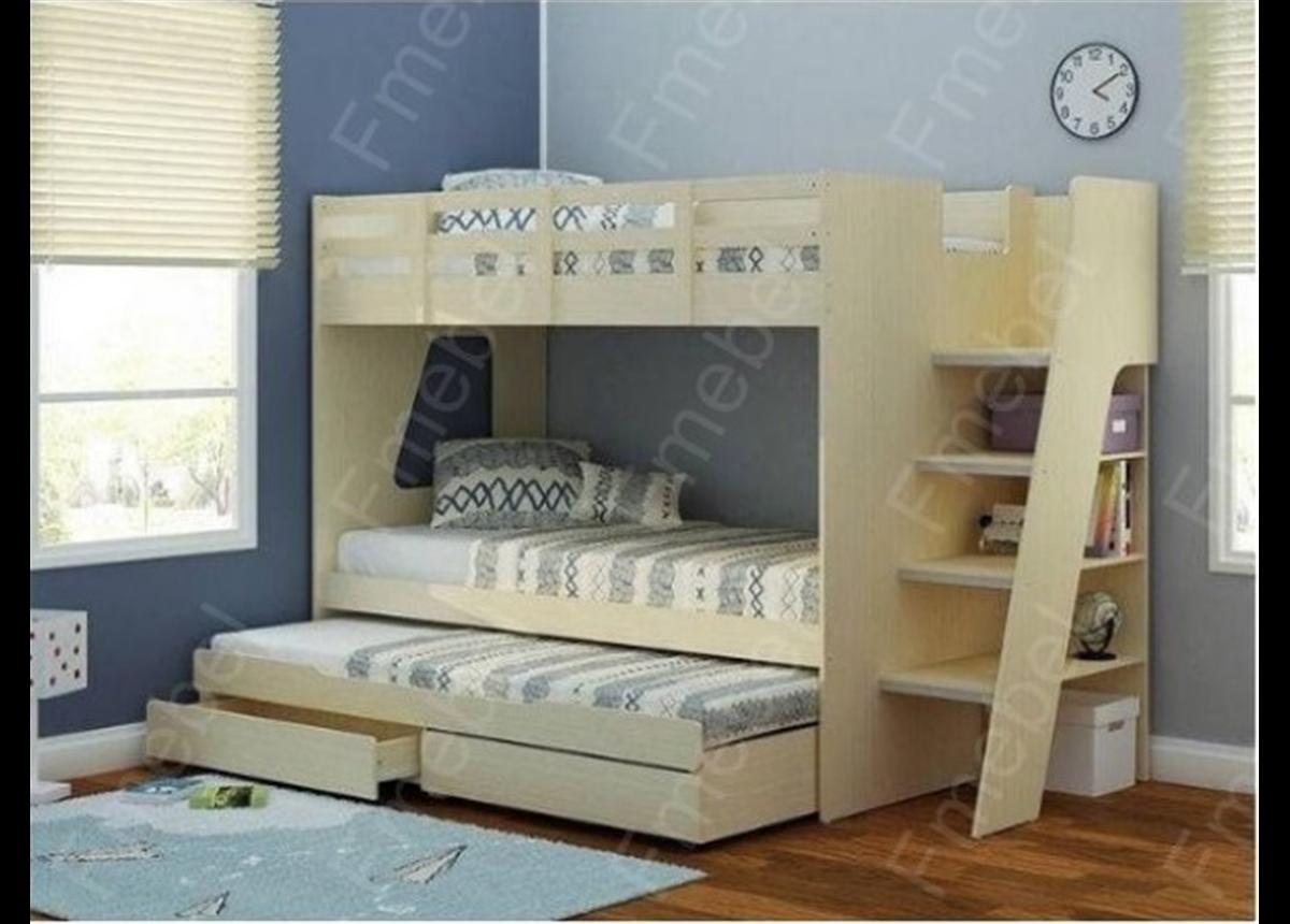 Двухъярусная кровать с дополнительным спальным местом КЧТ 108 Fmebel
