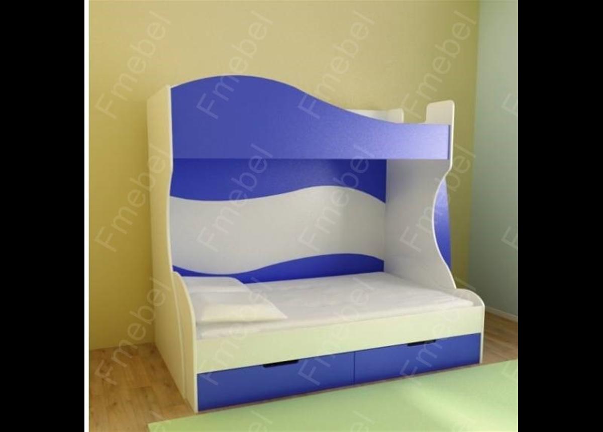 Двухъярусная кровать с дополнительным спальным местом КЧТ 112 Fmebel