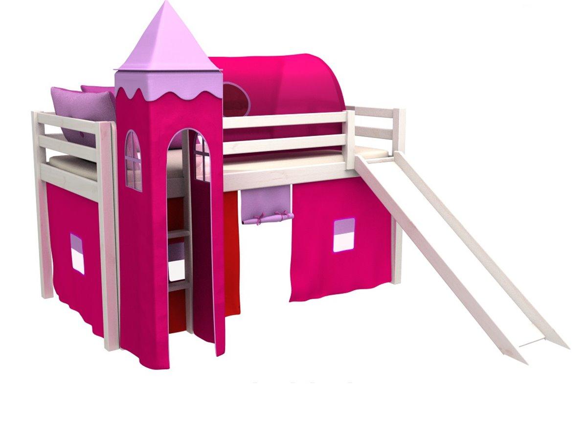 Кровать-чердак с горкой и матрасом GABI Z WIEZA+ IGLO Fmebel EB 80x180