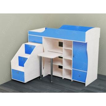 Кровать-чердак со столом Кембридж Fmebel