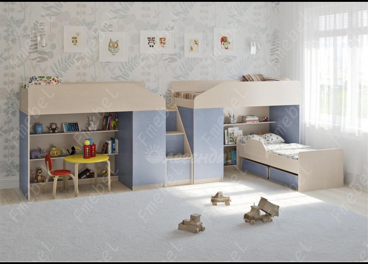 Кровать для троих детей Дерби Fmebel 80x190