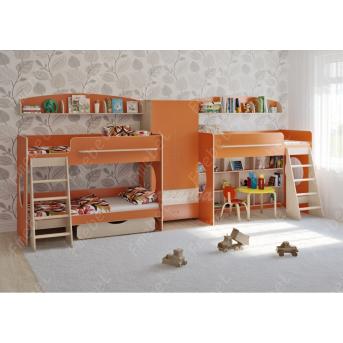 Кровать для троих детей Престон Fmebel 80x190