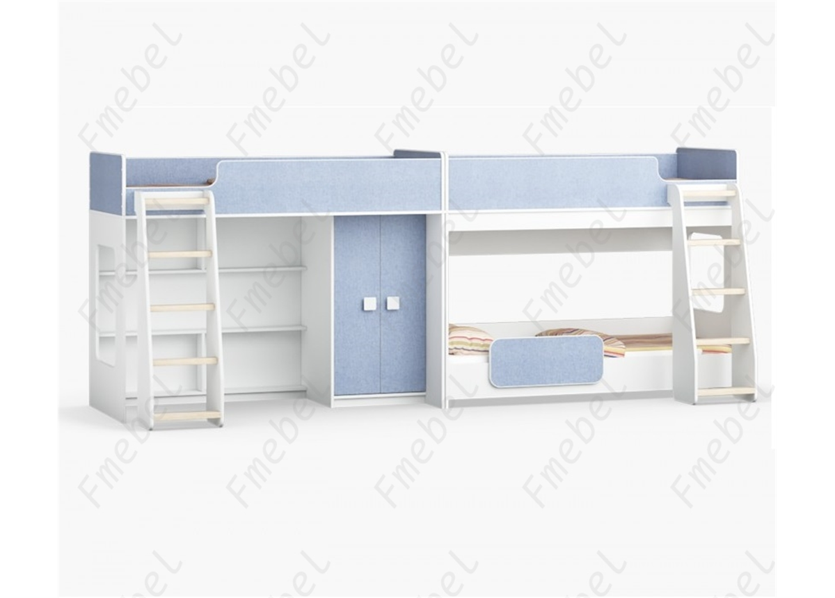 Кровать для троих детей Альбукерке Fmebel 80x190