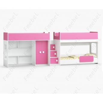 Кровать для троих детей Омаха Fmebel 80x190