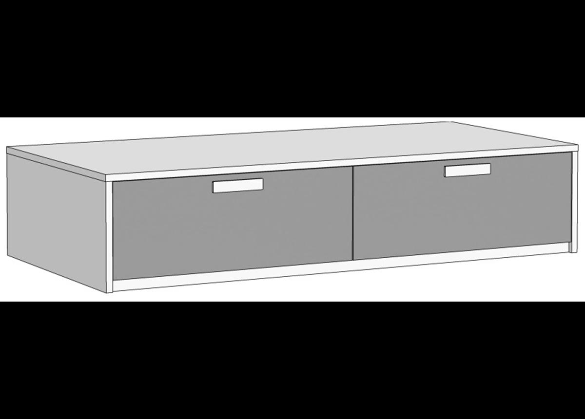 Кровать-диван с 2 ящиками (схема) Fmebel