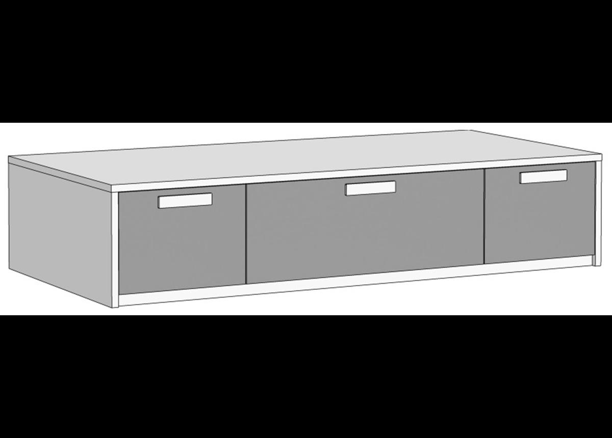 Кровать-диван с 3 ящиками (схема) Fmebel