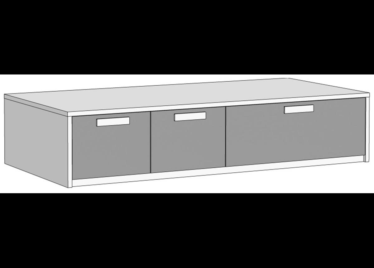 Кровать-диван с 3 ящиками (схема) 2 Fmebel