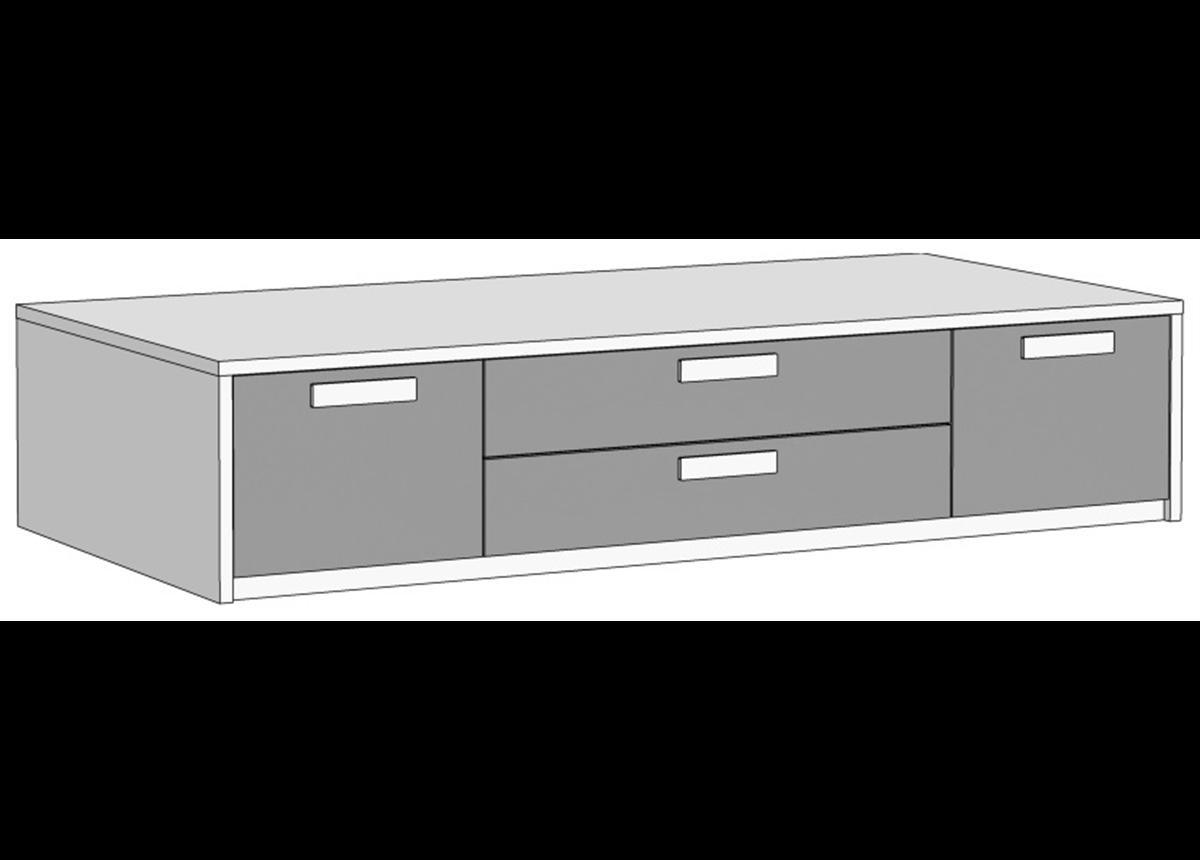 Кровать-диван с 4 ящиками (схема) 2 Fmebel