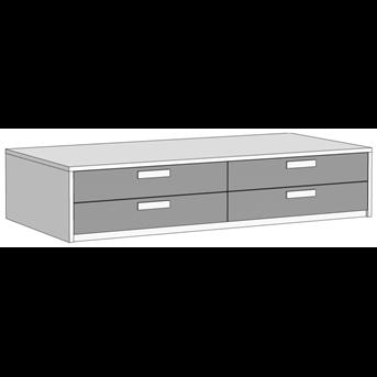 Кровать-диван с 4 ящиками (схема) 3 Fmebel