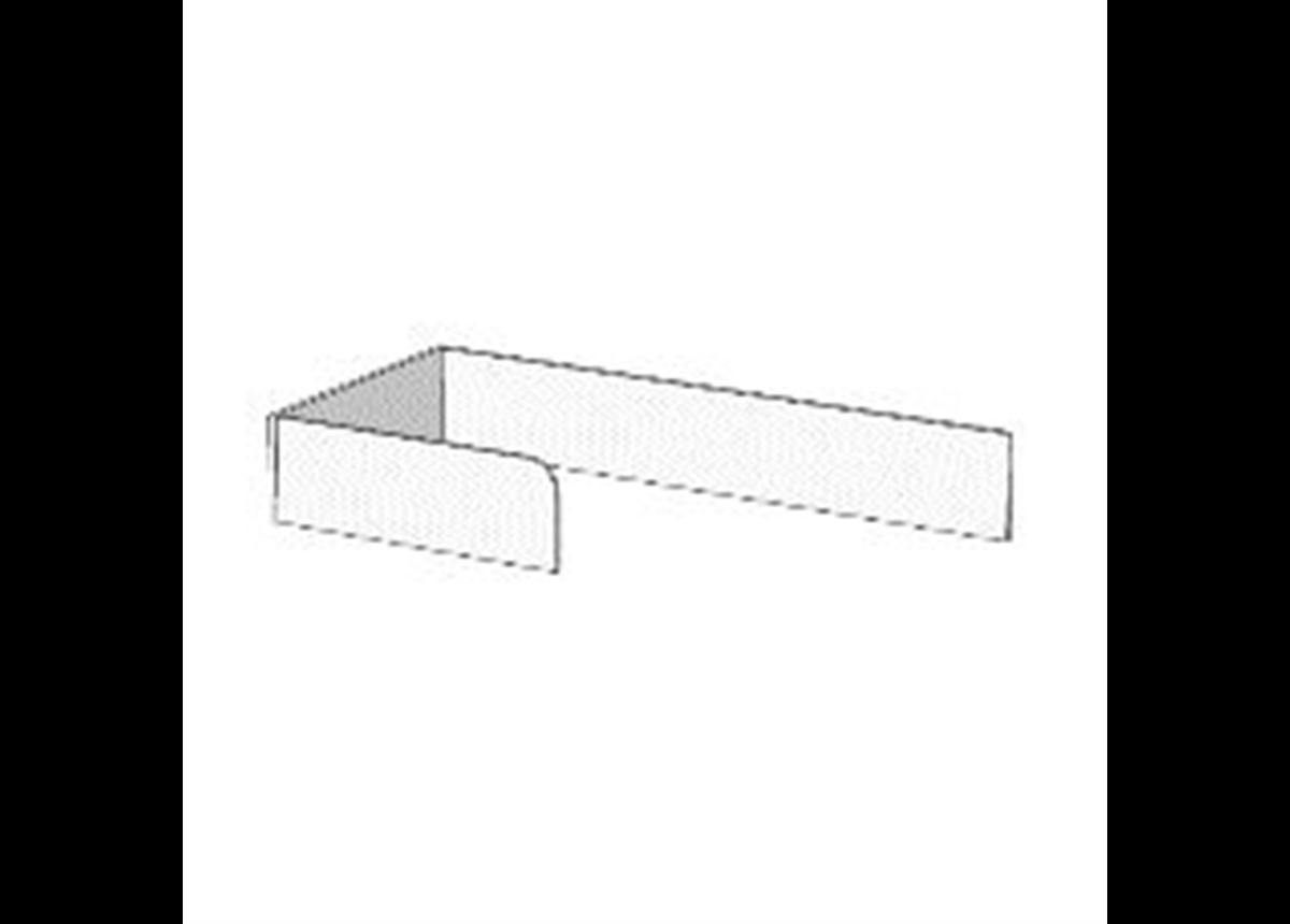 Борт Г-образный с ограничителем для кроватей (схема) Fmebel