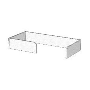 Борт П-образный с ограничителем для кроватей (схема) Fmebel