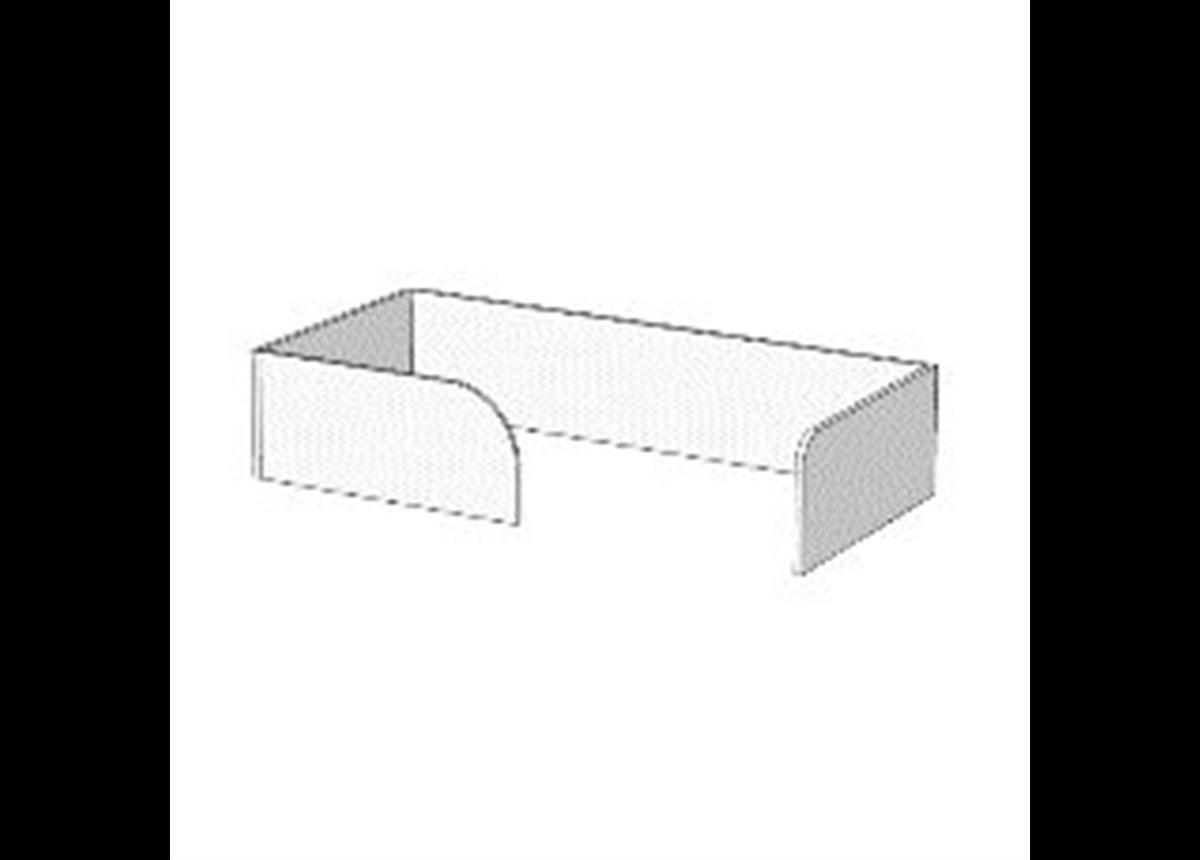 Борт П-образный с ограничителем для кроватей (схема) 2 Fmebel