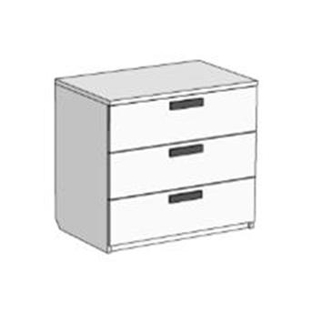 Комод с 3 ящиками (схема) Fmebel