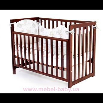 Кроватка Соня ЛД13 съемная спица Верес 60х120 Орех