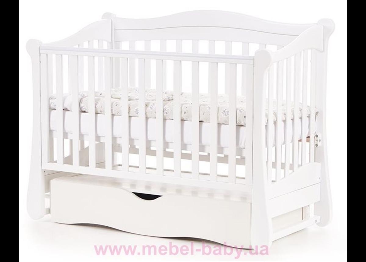 Кроватка с маятниковым механизмом Соня ЛД18 ЕС Верес 60х120 Белый