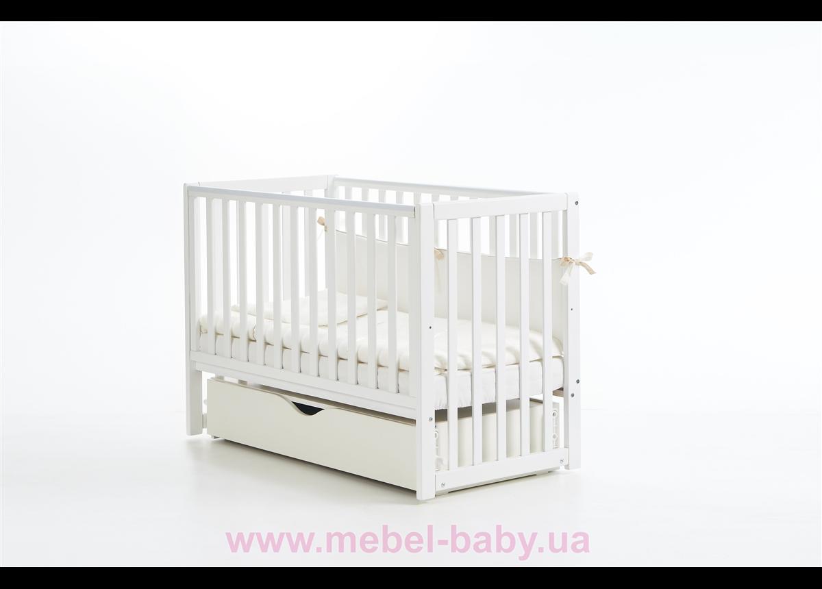 Кроватка с маятниковым механизмом Соня ЛД13 Верес 60х120 Белый