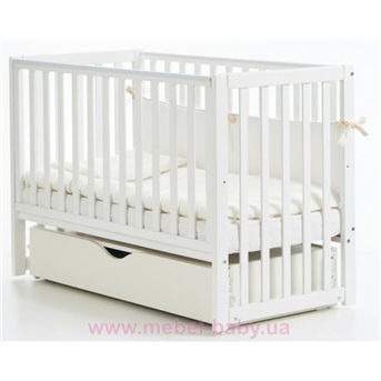 Кроватка с ящиком и маятниковым механизмом Соня ЛД13 Верес 60х120 Белый