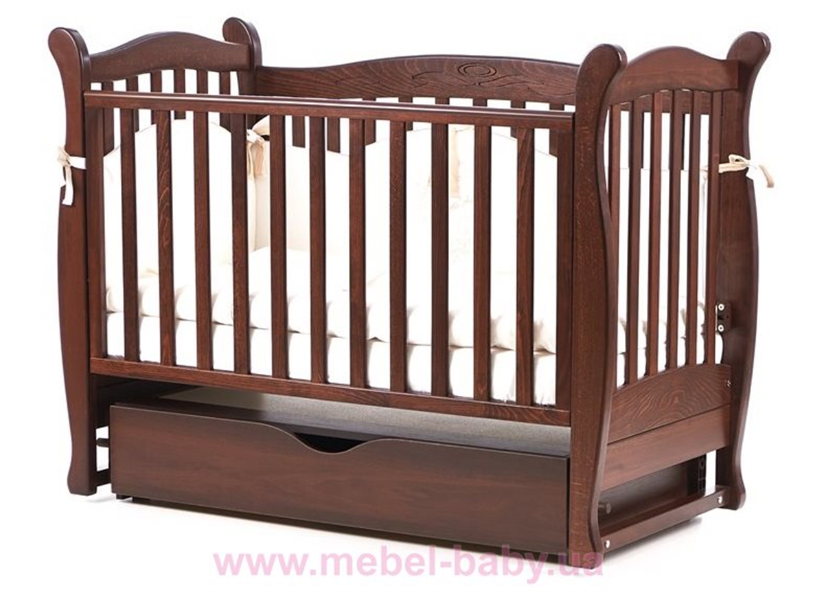 Кроватка с маятниковым механизмом Соня ЛД15 Верес 60х120 Орех