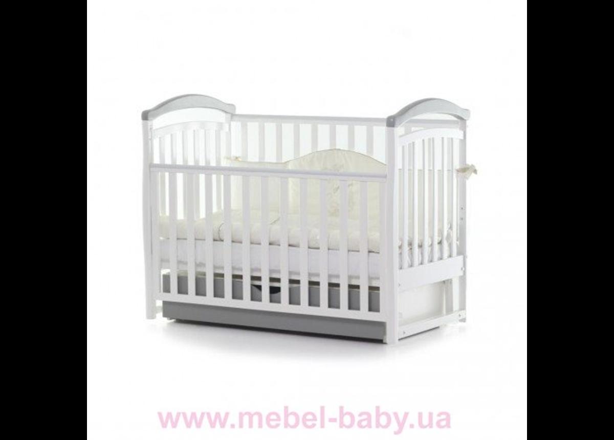 Кроватка с ящиком и маятниковым механизмом Соня ЛД6 ЕС Верес 60x120 Белый/серый