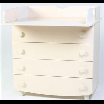 Комод-пеленатор гладкие фасады Верес Слоновая кость 90 см