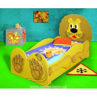 Кровать с матрасом Лев Пластико