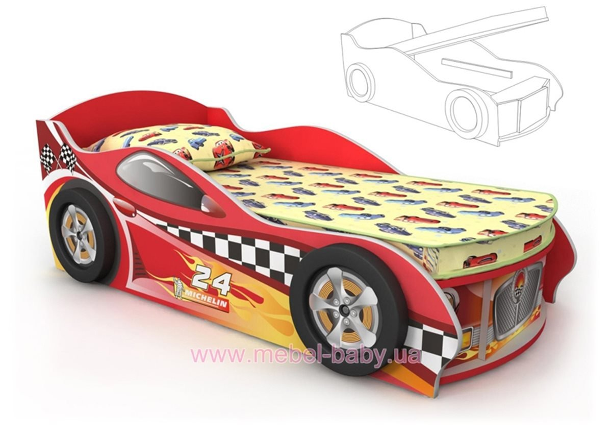 Кровать-машинка DR-10-80mp Briz 80x170