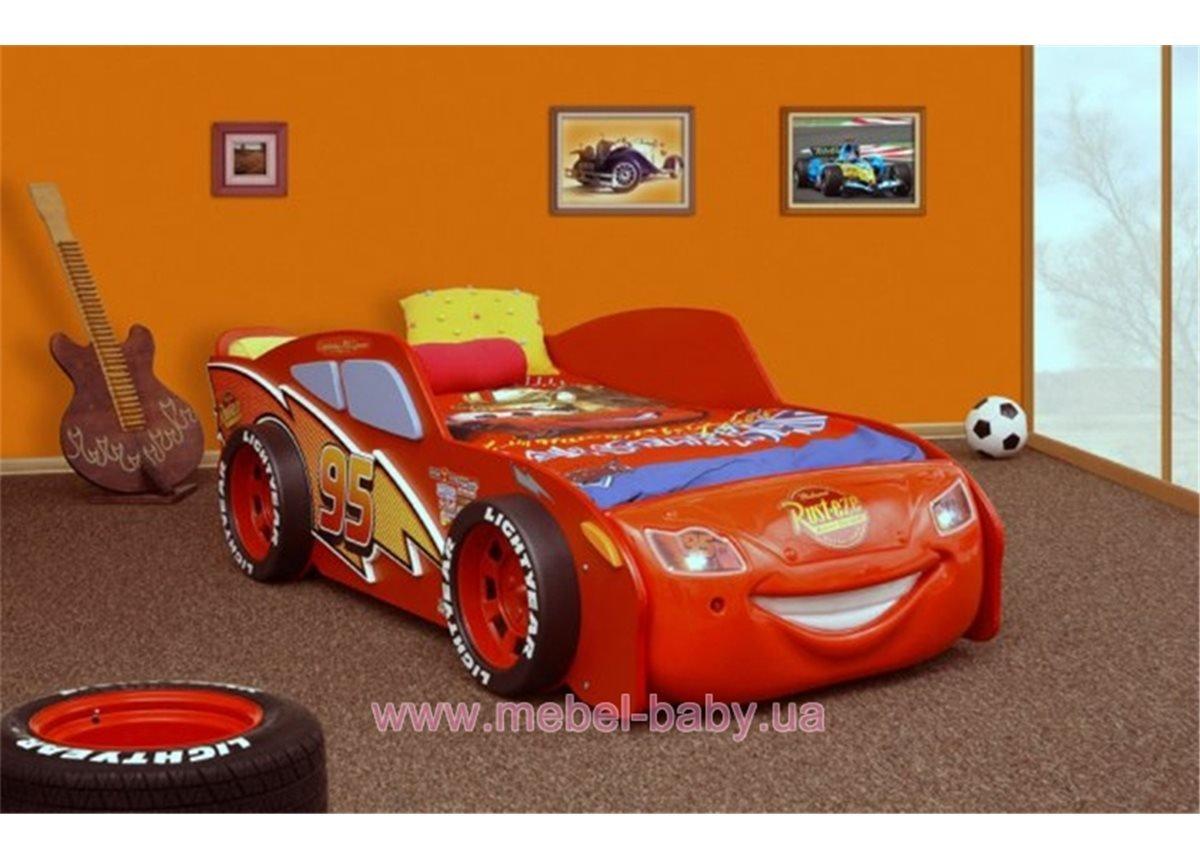 Кровать-машинка с матрасом McQueen MDF