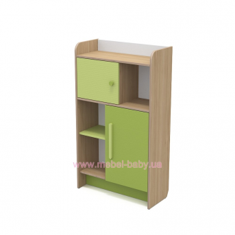 Книжный шкаф кв-04-2 Акварели Зеленые
