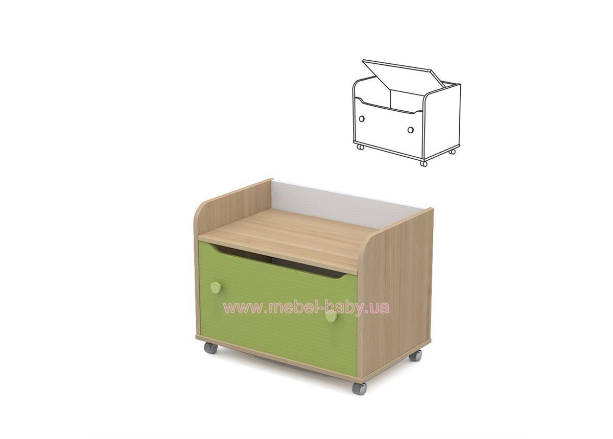 Комод для игрушек кв-22 Акварели Зеленые