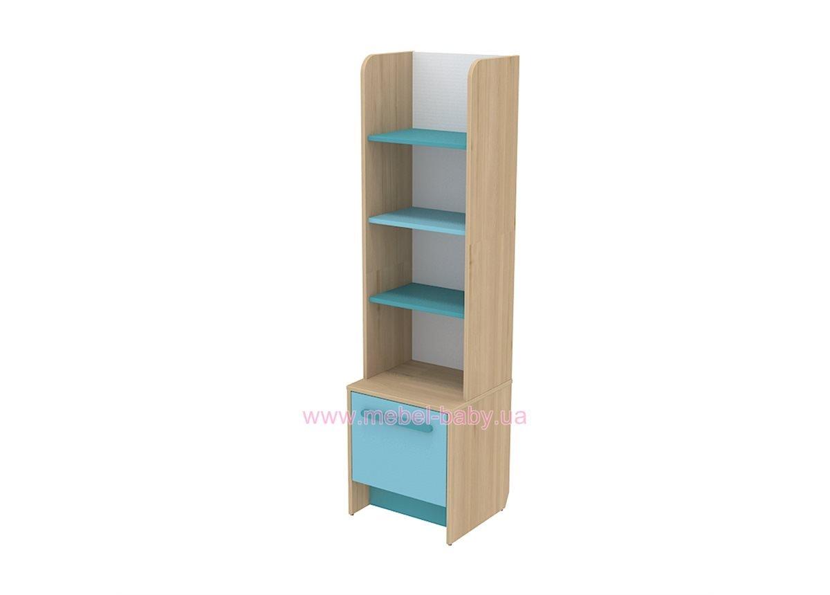 Книжный шкаф кв-05 Акварели Бирюзовые