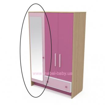 Зеркало к шкафу кв-07-3 Акварели Розовые
