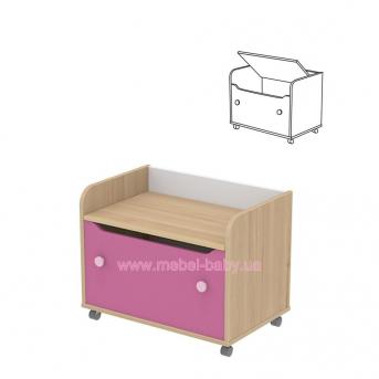Комод для игрушек кв-22 Акварели Розовые