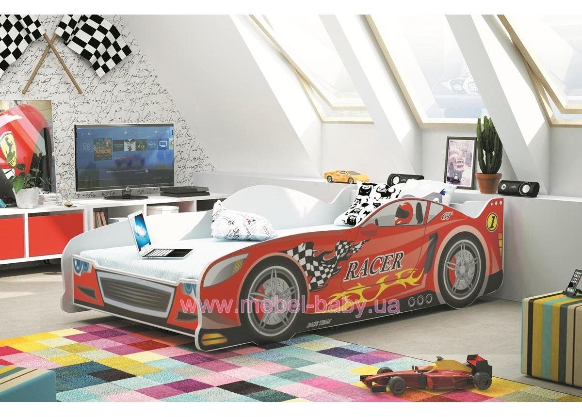 Кровать-машинка + 1 матрас CARS Single BMS Group 80x160